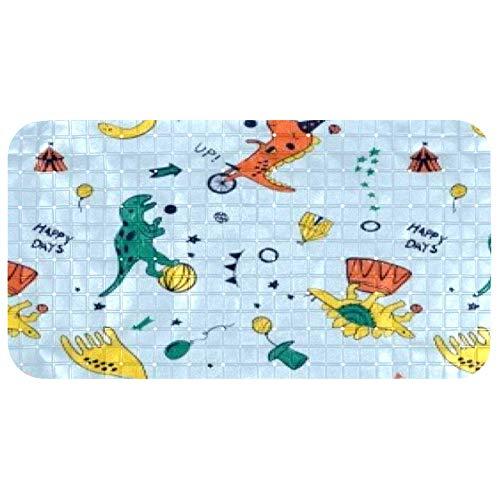 Anmarco Alfombrilla de ducha para bañera, diseño de dinosaurios, con estampado de vacaciones, antideslizante, para bañera, suave, sin BPA y látex, 37,3 x 68,3 cm, lavable a máquina