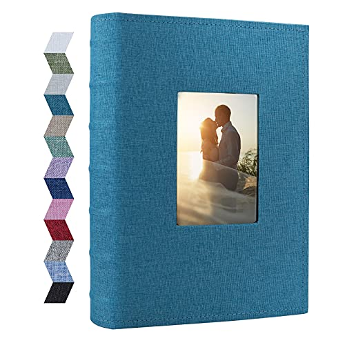 Vienrose Photo Albums 6x4 300 Pockets Linen Frame Cover with Memo Areas Photobook Large Capacity Pictures Book for Wedding Family Baby Vacation
