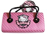 Hello Kitty rosa bolso estilo caja de vidrios