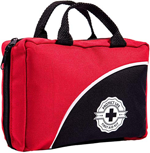 First Aid Kit - 160 Piece - for Car, Travel, Camping, Home, Office, Sports, Survival | Complete...