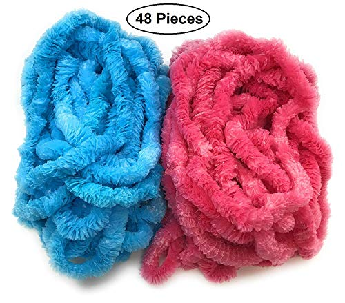 48 pcs Baby Gender Reveal Leis for Baby Shower Announcement Party Set of 48
