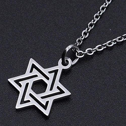 YOUZYHG co.,ltd Collar de Estrella de David Collar de Encanto de Acero Inoxidable para Mujer Collares de joyería