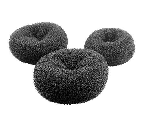 Tukistore 3 pcs Mode Donut Bun Maker Cheveux Bun Maker Accessoires de Cheveux Donut Chignon Bun Maker pour Les Femmes et Les Filles
