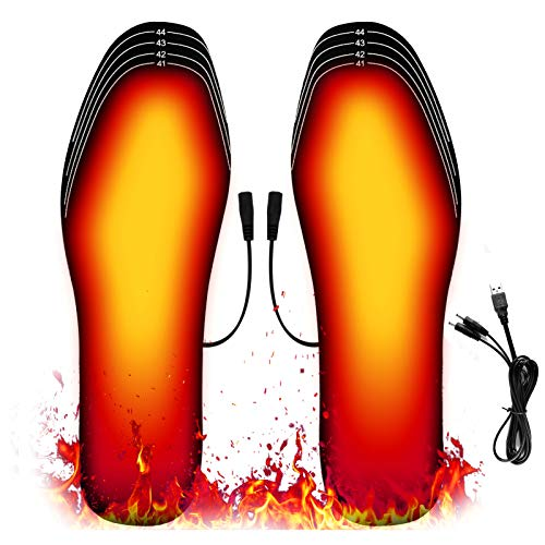 Heated Insoles, USB Insoles Washable Foot Warmers Cut-to-Fit Multiple Sizes...