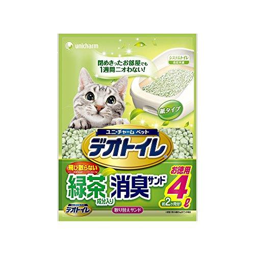 デオトイレ 1週間消臭・抗菌 飛び散らない緑茶成分入り・消臭サンド 4L