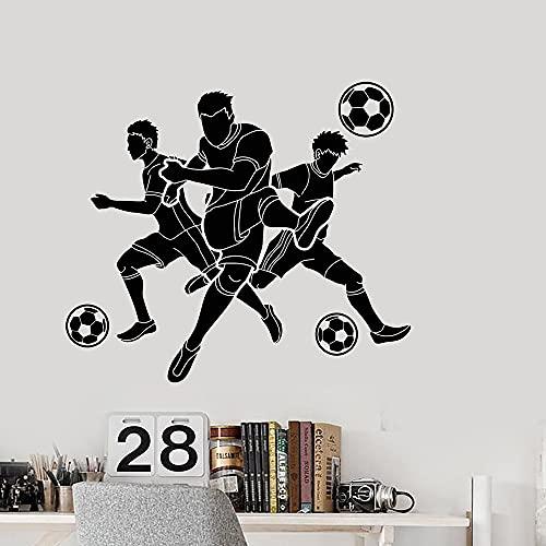 Zdklfm69 Adesivi da Parete Adesivi Murali Bellezza Gioca a Calcio Decorazione della casa Accessori per la Decorazione della Camera da Letto Adesivo murale Sticker 86x98cm