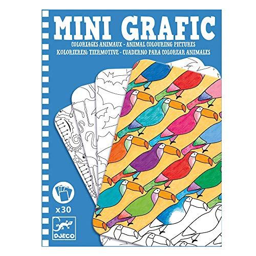 Djeco/Next Page Mini Grafic Corbeille à coloriage Animal Multicolore