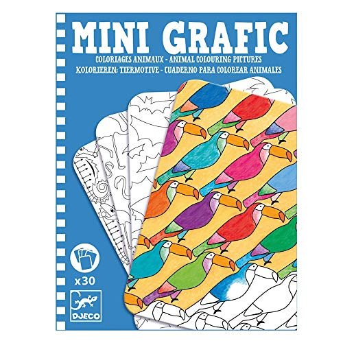 Djeco - Mini Graphic - Coloriage d'animaux