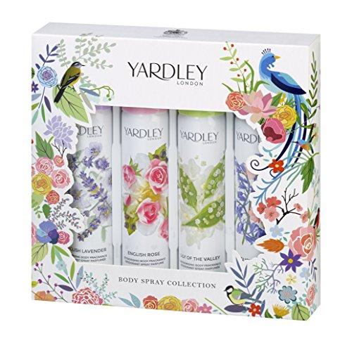 Yardley London, Confezione di Spray per il Corpo, set per regalo natalizio - confezione da 4