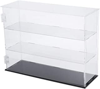 IPOTCH Acrylic Display Rack Case Organizer Storage, Shot Glass Display, 3 Shelves Display Acrylic Holder for Display Figur...