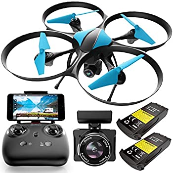 Force1 U49WF FPV Drone with Camera for Adults - VR Headset Compatible WiFi Quadcopter RTF Remote Control Flying Drone with 720p HD Drone Camera Altitude Hold Headless Mode and 2 Drone Batteries