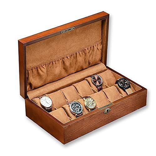 LJJ Reloj de Madera Caja de Almacenaje Caja para 12 Relojes