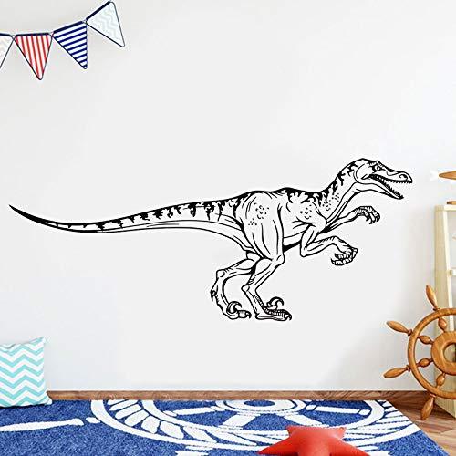 Gran Velociraptor dinosaurio Animal Jurassic Park pegatina de pared decoración del hogar para niños habitación infantil sala de juegos murales A9 103x42cm