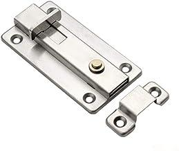 Praktisch 3 Inch Stainless Steel deurslot Sliding Lock Barrel Bolt automatische Spring Klink Safety Lock for Hotel Office ...