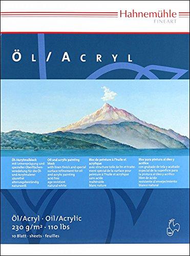 Öl- und Acrylmalblock 230g/m², 24x32cm, 10Blatt