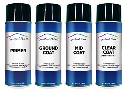 Spectral Paints Compatible/Replacement for Honda NH788P Orchid White Pearl 12 oz. Aerosol Primer Spray Paint and Clear Coat