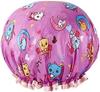 Shower Cap, Shower Cap Female, Waterproof Shower Bathing Hood, Adult Anti-Fume Kitchen Hat, Hair Mask Special Female Models, (Color : A1)