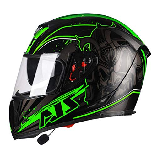 Motocicleta eléctrica, hombre, bluetooth, casco integral, cubierta, batería femenina, coche, motocicleta, carreras, casco, ha pasado la certificación DOT y ECE-YEMA YM-833 D,2XL