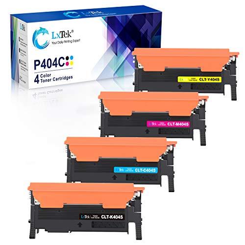 LxTek Ersatz Kompatibel für Samsung CLT-P404C Toner für Samsung Xpress SL C480W C430W C480FW C480 C480FN C430 (CLT-K404S CLT-C404S CLT-M404S CLT-Y404S)