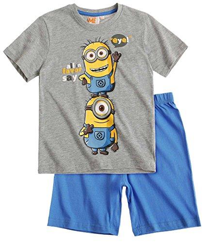 Minions Despicable Me Jungen Shorty-Pyjama - grau - 128