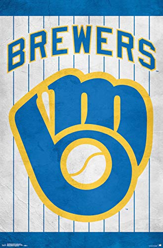 Trends International MLB Milwaukee Brewers - Retro Logo, 22.375