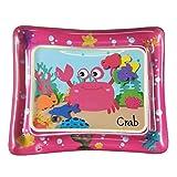 Alfombra de Agua Bebes Inflable Water Mat,Alfombra de Juegos Adecuado para Niños Pequeños (Cangrejo Rosa)