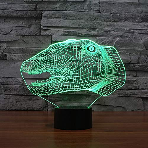 Only 1 Piece Dinosaur Head 3D led Light Novel USB Night Light Creative USB led 3D lamp