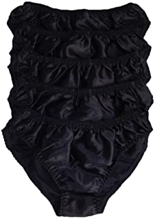 Qianya Mens Bikini Briefs 100% Pure Silk 5 Pairs in One Economic Pack