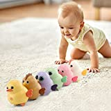 OPTIMISTIC Electronic Interactive Toy Walking Swinging Chicken for Kids Magnetic Electric Toy Chicks Duck Owl Swing Team Lovely Rocking Electric Animal Toys Set Gift for Kids Children (6 Pack)