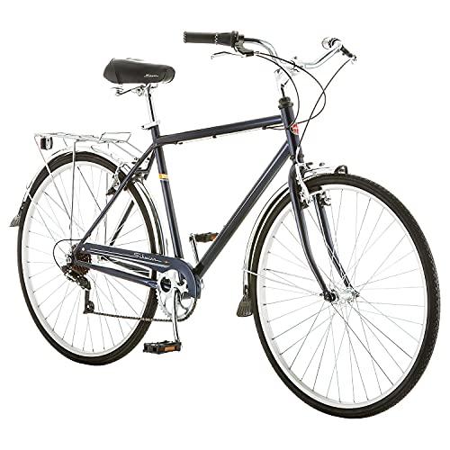 Schwinn Wayfarer Adult Bike Hybrid Retro-Styled Cruiser, 18-Inch/Medium Steel Step-Over Frame, 7-Speed...