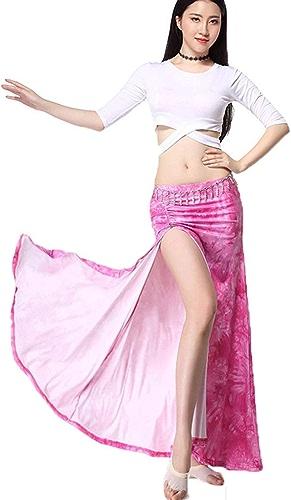 Costume De Danse du Ventre for Les Femmes, Les Dames Professionnelles Costume De Pratique De Danse Latine Perforhommece (Couleur   rose, Taille   M)