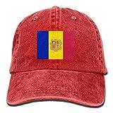 Yaxinduobao Gorra Vaquera Vaquera Andorra Flags Unisex Adult Denim Dad Baseball Hat Sports Outdoor Cowboy Cap For Men and Women