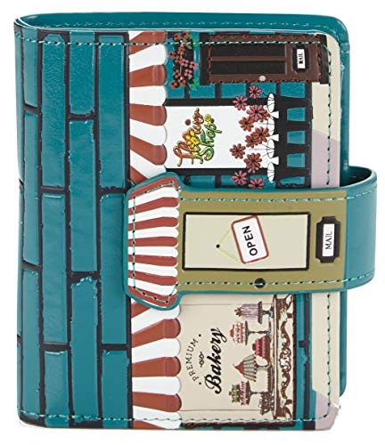 Shagwear portafoglio per giovani donne Small Purse : Diversi colori e design: (pasticceria turchese/Bakery)