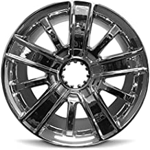 Road Ready Car Wheel For 2014-2018 Chevrolet Silverado 1500 20 Inch 6 Lug Chrome Rim Fits R20 Tire - Exact OEM Replacement - Full-Size Spare