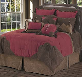 HiEnd Accents Red Rodeo Western Bedding, Super King - WS4005SK