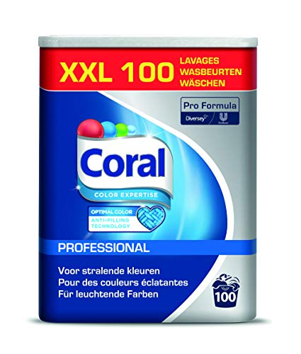 Coral Professional 100840602 Optimal Color Fein- und Buntwaschmittel, Pulver, 6,25 kg