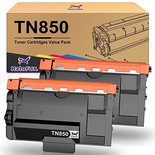 HaloFox Compatible Toner Cartridge Replacement for Brother TN850 TN 850 TN-850 TN820 TN-820 TN 820 to use with HL-L6200DW MFC-L5900DW HL-L5200DW MFC- L5800DW (2 Black, High Yield)