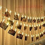 Cadena de luz LED para el hogar tarjeta montada en la pared clip de imagen foto cadena de luz de uñas decoración de interiores cadena de luz de moda usb 10m100 leds
