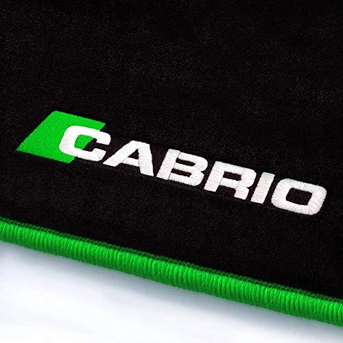 online-fussmatten Cabrio_28551 Fein-Velours Autoteppiche Stick Cabrio Stick- und Randfarbe Kawagrün - Fahrzeugtyp in der Artikelbeschreibung beachten!