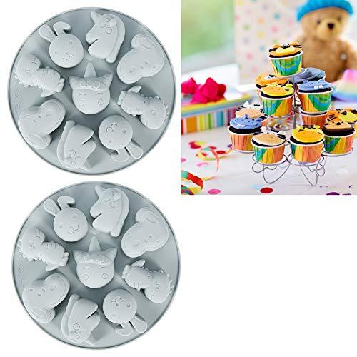 CUEA Molde para Hornear, Molde para Tartas, 2 Piezas para Hacer Pasteles, Tartas, Chocolates, Cocina para el hogar(Grey)