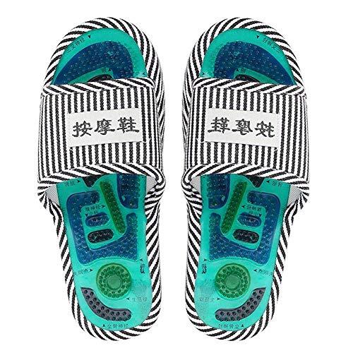 Zapatillas de Masaje de acupresión - Zapatillas de Masaje de Terapia magnética de Punto de acupuntura Cuidado de pies saludables Masajeador magnético para Hombres Mujeres Promoviendo (Men)