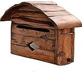 YZJL Caja Poste Buzón montado en la Pared de la decoración Post Box Pastoral Americana Buzón Buzón Periódico Leche Caja Caja Buzón de sugerencias Cajas de Letras de Montaje en Pared