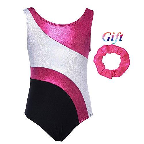 Hougood Gymnastikanzug Mädchen Leotards for Gymnastics Girls Ärmelloses Ballettkleidung Ballett Trikot Bodysuit Tanzkostüme Dancewear für 3-12 Jahre Kinder