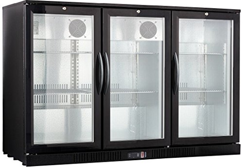 Procool Refrigeration 3-door Glass Front Back Bar Beverage Cooler; 54' Wide, Counter Height Refrigerator