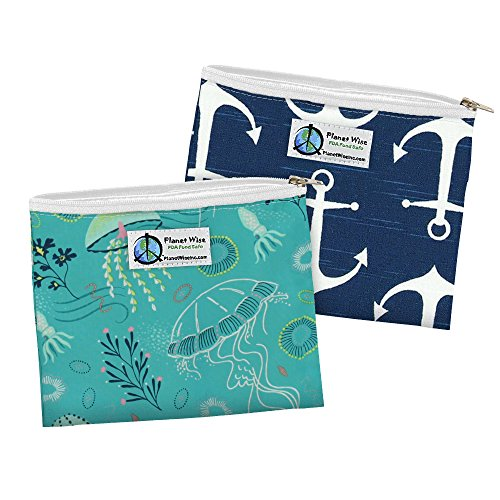 Planet Wise Reusable Zipper Sandwich Bags