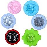 Ruisita 6 Stück Acryl Ausgießer Sieb Acryl Kunststoff Silikon Sieb Blume Abfluss Korb für Farbe Ausgießen Zubehör (Farbe Set B)