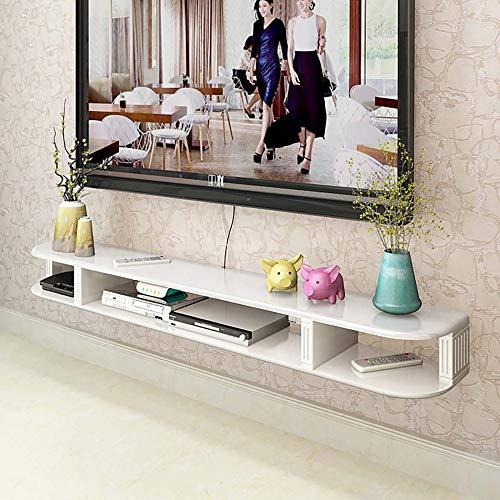 Mobile TV Sospeso,Mobile Porta TV Sospeso Pannello Di Densità,Mobile Basso per TV con Armadio Aperto per Mobili per la Casa Di Piccoli Appartamenti/bianca / 150cm