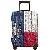 COSNUG Funda para equipaje (solo para equipaje) rústico Country Barn Wood Lone Star Texas Flag Maleta de viaje Protector para equipaje de 45 a 72 cm, multicolor, 80