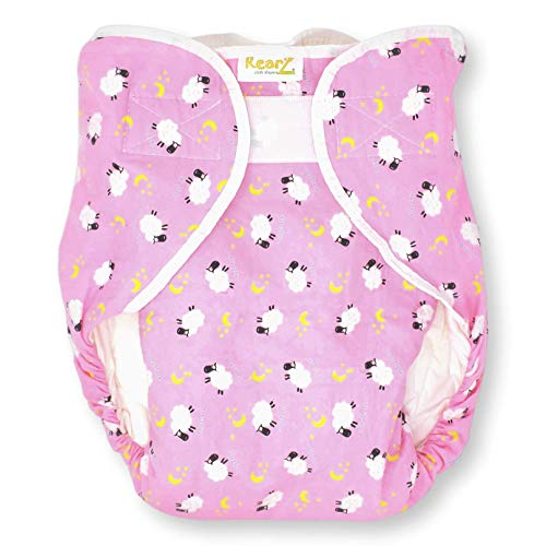 Rearz - Omutsu Bulky Fitted Nighttime Cloth Diaper (Pink - Sheep) (Small/Medium)