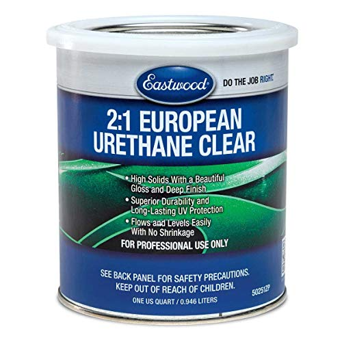 Eastwood 2:1 Urethane UV Resistant Super Durability Clear Coat Quart 150 SQ FT